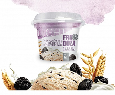 "Milk ice cream ""FRUDOZA light"""